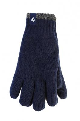 HEAT HOLDERS CONTRAST TRIM GLOVES MENS