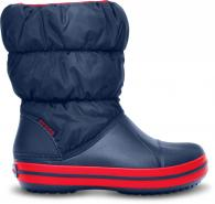 CROCS Kids Winter Puff Boot Navy / Red