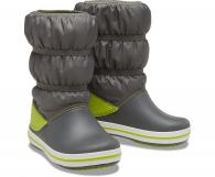 CROCS Kids Crocband™ Winter Boot Slate Grey / Lime Punch