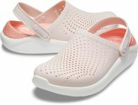 CROCS LiteRide Clog Barely Pink / White