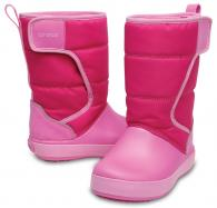 CROCS Kids' LodgePoint Snow Boot Candy Pink / Party Pink