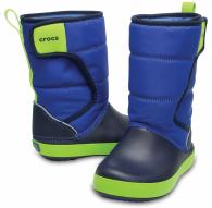 CROCS Kids' LodgePoint Snow Boot Blue Jean / Navy